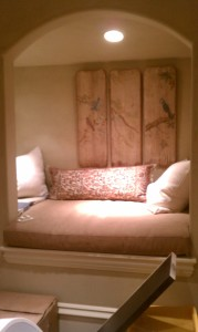 Custom Upholstery With Pillow For Built-in Ned Nitch