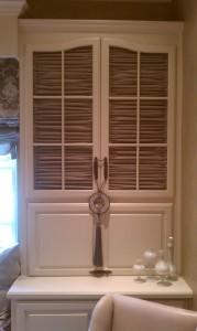Horizontally Shirred Cabinet Curtains