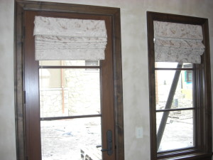 Working Flat Roman Shades With Valance